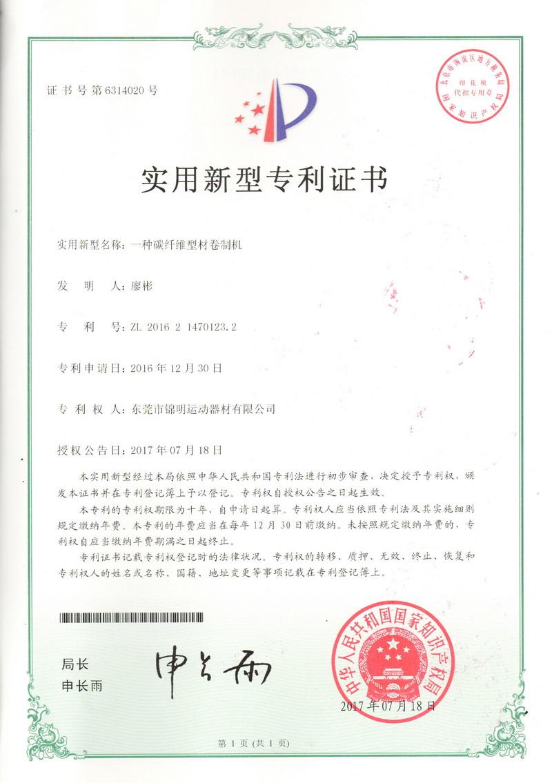 Patent Certificate 06