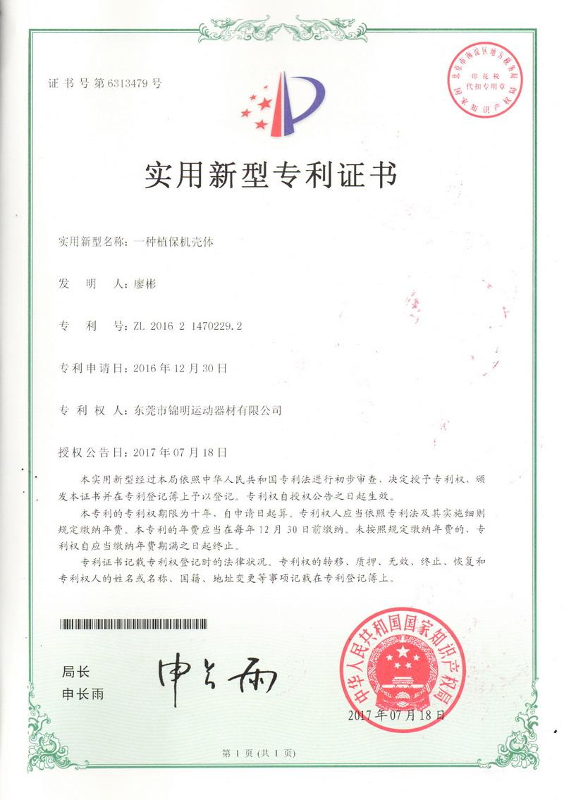 Patent Certificate 07