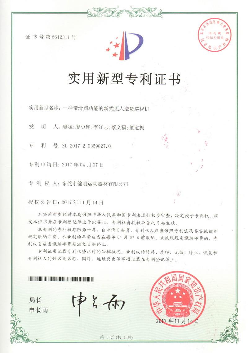 Patent Certificate 13