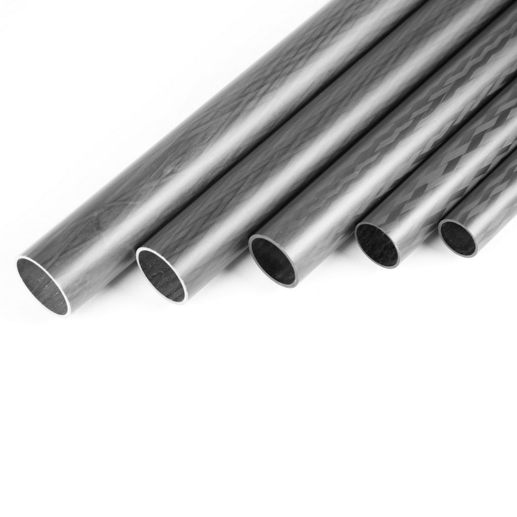 Round Carbon Fiber Tubes with Matte Surface