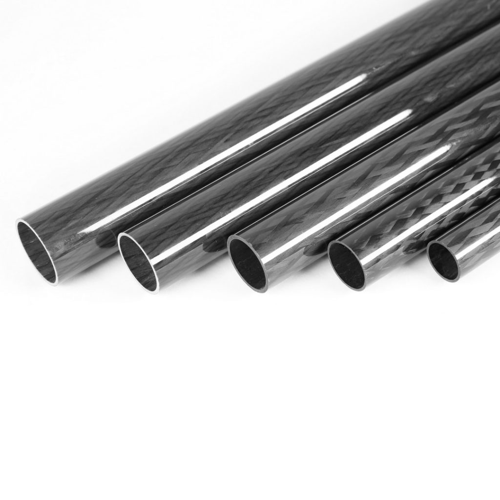 Round Carbon Fiber Tubes with Glossy Surface