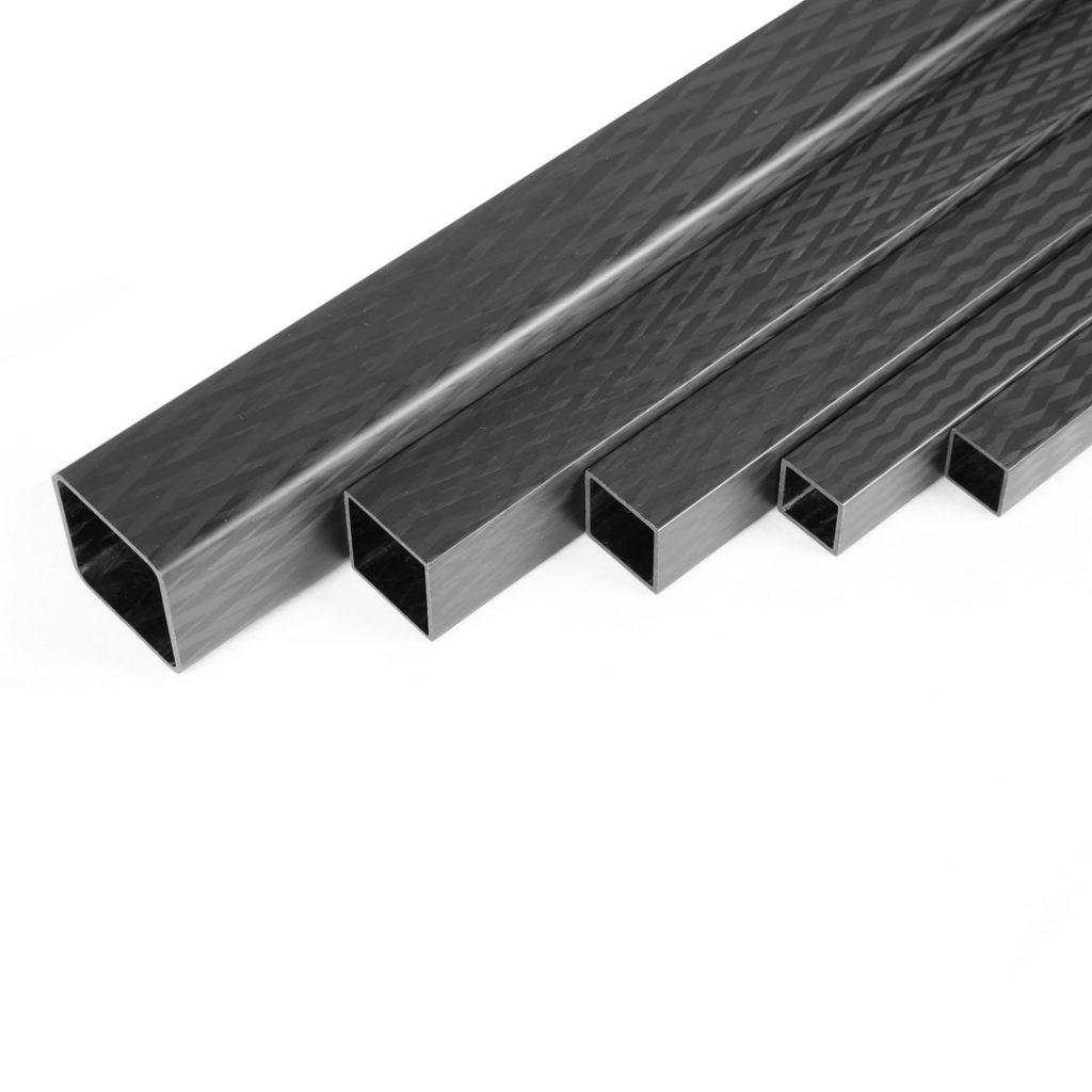 Square Carbon Fiber Tubes with Matte Surface