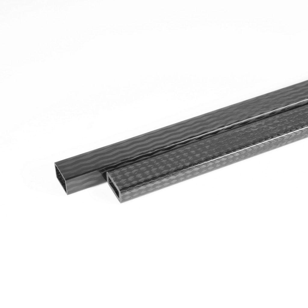 Rectangular Carbon Fiber Tubes