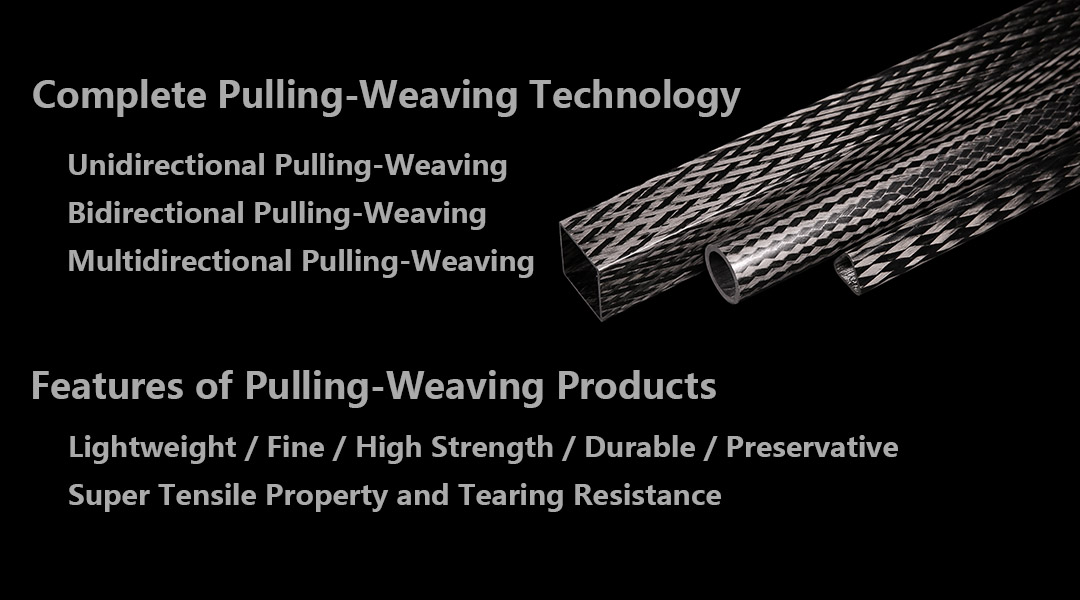 carbon fiber pulling-weaving
